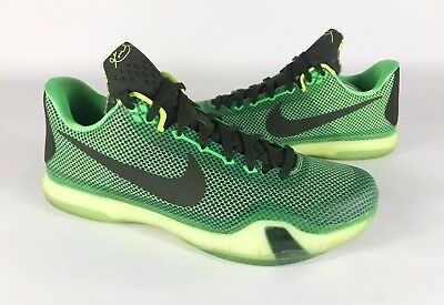 los angeles 880f5 c0fe4 Mens NIKE KOBE X 10 Size 12 Green Black Yellow Nike Zoom VGC705317-