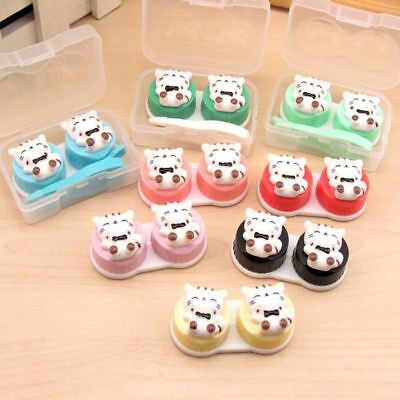 1 Set Contact Lens Box Cat Cute Cartoon Girls Gifts Case Storage Portable Kit