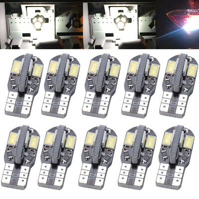 10* CANBUS T10 Wedge 8SMD Parker Number Plate LED Bulbs W5W 194 168 131 WHITE AU