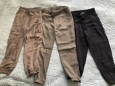 Girls Pants Bulk Lot Sz 6 Jogger Country Road Seed Target Cotton Khaki Beige EUC