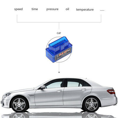 Mini OBD2 OBDII Bluetooth Adapter ELM327 V2.1 Auto Scanner TORQUE ANDROID