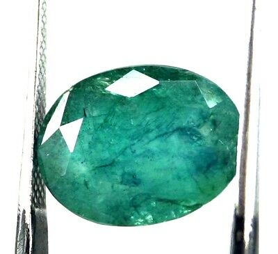 GGL Certified 7.00 Ct Oval Cut Majestic Look Natural Emerald Gem Christmas Offer