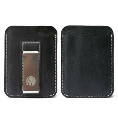 Men's RFID Blocking Slim ID Credit Card Packet Leather Money Clip Wallets Purse