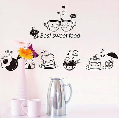 Removable Restaurant Kitchen Vinyl Stickers Art Decal Wall Room Home Shop Decor