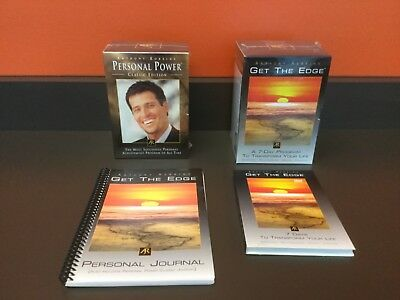 Anthony Robbins Personal Power Classic Edition CD/Get The Edge Lot