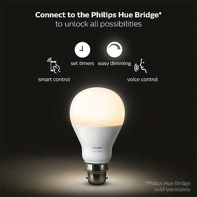Philips Hue White Smart LED Dimmable Bulb B22 Smart control comfort dimming