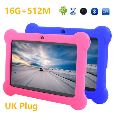 """7"""" Inch Android 4.4 Tablet 16GB Quad Core Dual Camera Bluetooth Wifi Tablet UK"""