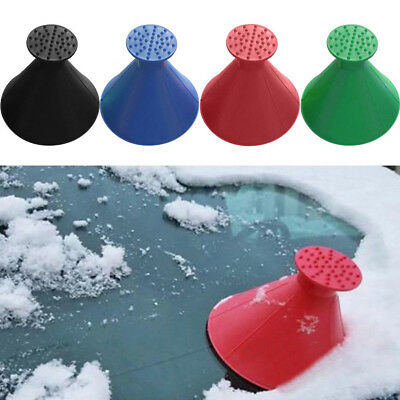 Car Windshield Ice Scraper Tool Cone Shaped Outdoor Funnel Remover Snow Eager