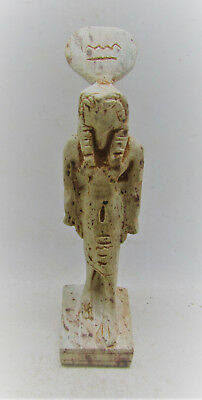 Very Rare Egyptian Glazed Faience Statuette Of Sehkmet Beautiful Piece