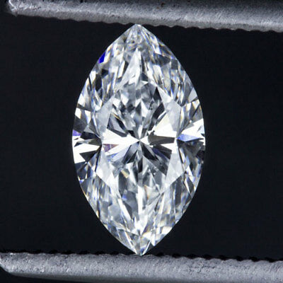 GIA CERTIFIED E SI1 MARQUISE CUT SHAPE DIAMOND LOOSE 1/2 CARAT VINTAGE 0.50ct VG
