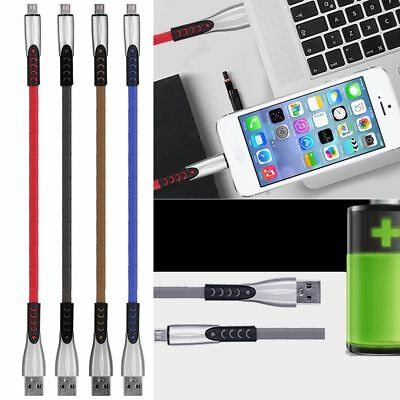 Zinc Alloy Micro USB Fast Data Sync Charging Cable For Samsung Galaxy Android