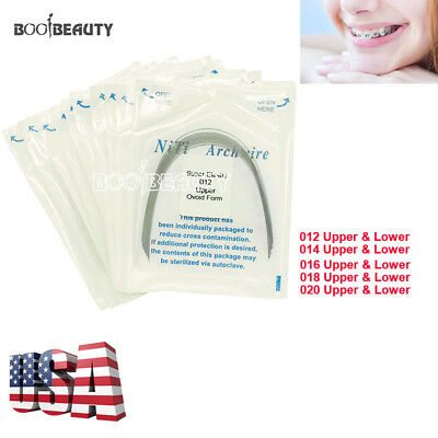 USPS 10X Upper Lower Dental Orthodontic Niti Arch Wire Round Super Elastic Ovoid