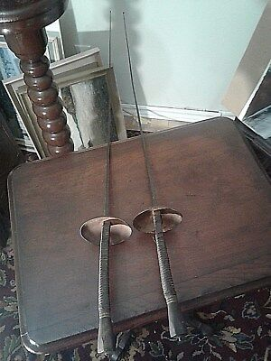 RARE PAIR French Fencing Sword > Antique Old Swords