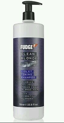 1000ml Fudge violet / clean blonde shampoo 1 litre