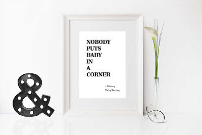 Start Your Own Small Prints Business, Movie Typography Prints, Commercial Use