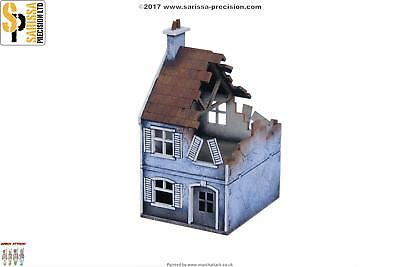 Plastic Soldier WWII Terrain 1:72 Terrace House - Destroyed Pack SW