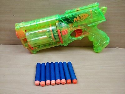 Nerf Maverick Rev-6 Rare Sonic Green Toy Gun With 8 Ammo Fully Tested