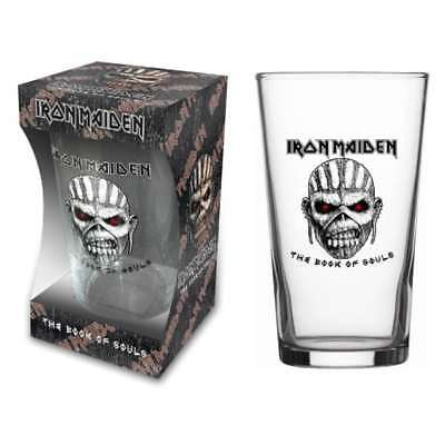 "Iron Maiden - ""book Of Souls"" - Beer Glass - Official Product - U.k. Seller"