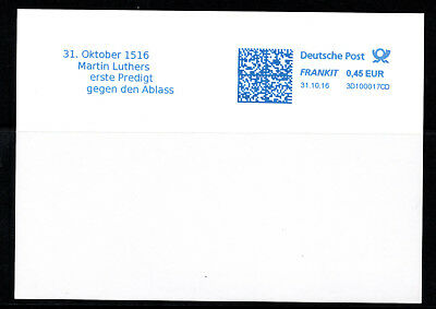 Freistempel Luther Wittenberg 31.10.1516 Luther Ablass Reformation