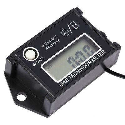 LCD Tachometer Tach/Hour Meter RPM Tester for 2/4 Stroke Engine Motorcycles N6Y6