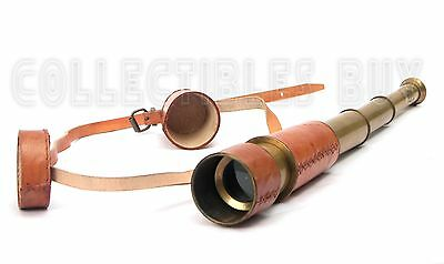 Desktop decorative Functional Vintage Navy Telescope leather cover belt Scopes