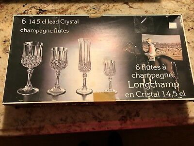 Cristal D'Arques Longchamp Wine Goblets Glasses, Set of (6)