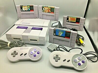 *REFURBISHED* Super Nintendo SNES System Console Bundle with Choice of Game