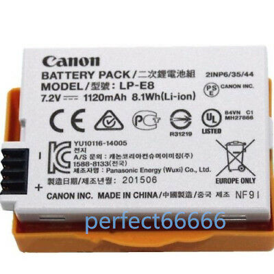 Original Canon LP-E8 LPE8 Battery for EOS 550D 600D X4 X5 T2i T3i