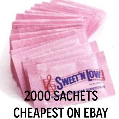 2000 SACHETS OF SWEET N LOW GRANULATED SWEETENER ZERO CALORIE- 2 x BOXES OF 1000