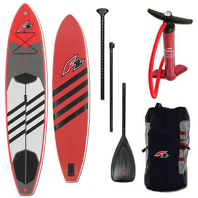 """F2 Tour Inflatable Sup Board ~ 11,6"""" Ultra Light Inklusive Paddel + Pumpe + Bag"""