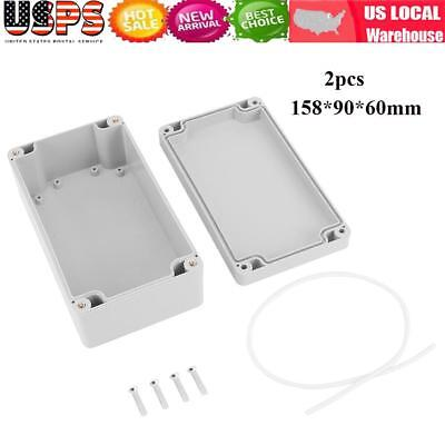 2x IP65 ABS Waterproof Electrical Junction Box Project Box Enclosure 158*90*60mm