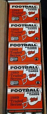 1989 Topps Traded NFL 5 Sets 132 Card Set; All Cards NM Cond. RC;Aikman,Sanders