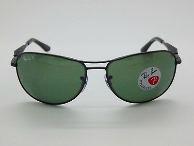 6168d087d5 New Authentic Ray Ban RB 3519 006 9A Matte Black Polarized 59mm Sunglasses