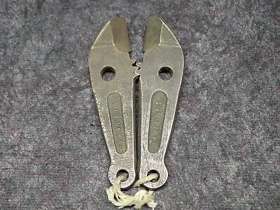 New OK ANGULAR BOLT CUTTER REPLACEMENT JAWS, #14, 1 inch Blades **VINTAGE** NOS.