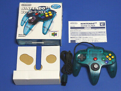 NINTENDO 64 Controller BROS Clear Blue Boxed N64 Import Japan