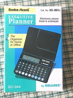 Radio Shack Executive Planner by Rolodex. New in box EC-344 No. 65-861A