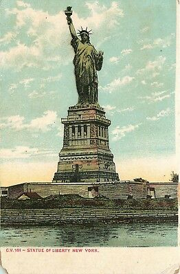 New York City, NY, Statue of Liberty in New York Harbor, Vintage Postcard e2442