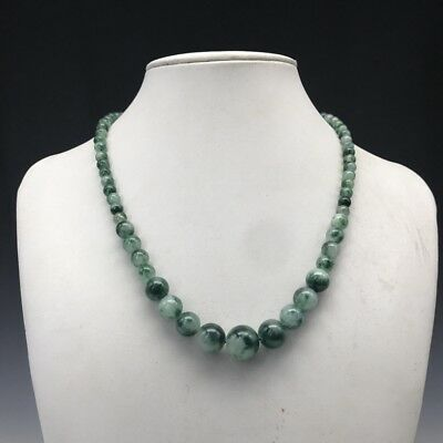 Exquisite Chinese hand-carved 100% natural jade necklace