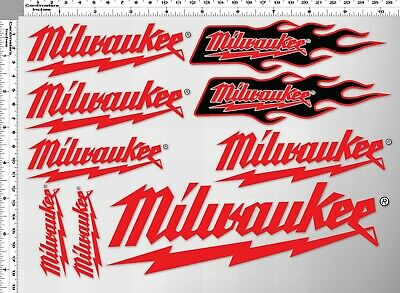 1set milwaukee tools toolbox decal sticker print die-cut vinyl household work