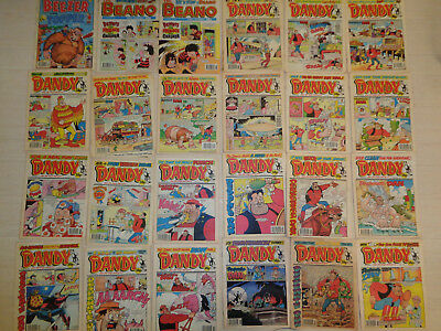 Dandy, Beano, Beezer and Topper comics from 1992-1995 - 24 editions