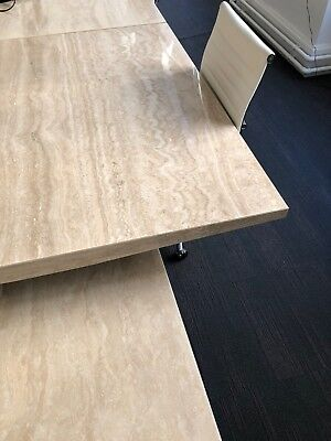 Office meeting conference table - Beautiful Travertine, Marble, High Gloss