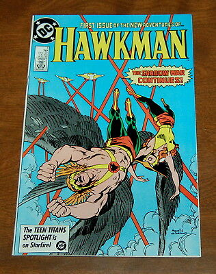 HAWKMAN #1  BRONZE AGE DC COMIC - HIGH GRADE NM-/NM 1986 Shadow War