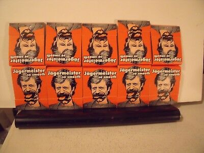Lot Of 10 Jagermeister Matchbooks Matches New Unstruck Unused