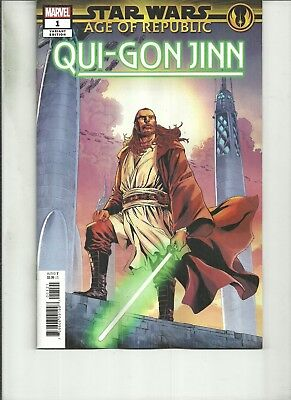 STAR WARS AGE OF REPUBLIC QUI GON JINN #1 SMITH VARIANT  Marvel Comics NM 2018