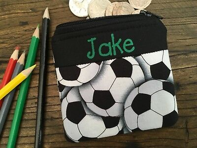 Personalised football coin purse / wallet for boy or girl kids children gift