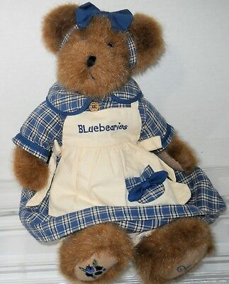 "Rare 2002 Boyd's Bear Muffin B. Bluebeary Blueberries 14"" Plush Animal"