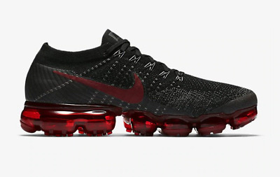 Off White Nike Air Vapormax Flyknit Bred Mens Running Shoes SIZE 7-11