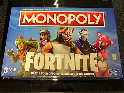 Brand New Fortnite Monopoly Edition Hasbro Board Game Sealed Kids Christmas Gift