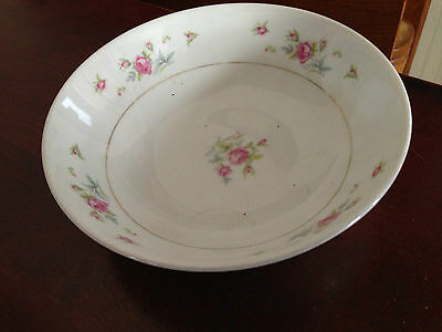 "Fine China of Japan PETITE ROSE 6 1/4"" Soup / Salad Plate Gold Trim"