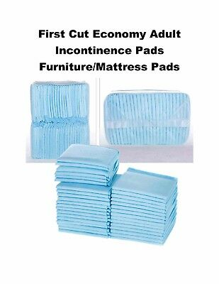 "150-30x30"" EXTRA LARGE First Cut Quality Economy Incontinence Pads Mattress Pad"